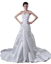 Show details for Ivory Strapless Mermaid Sweep Train Wedding Dresses With Appliques