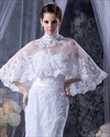 Show details for White Sweetheart Mermaid Beaded Appliques Wedding Dresses With Cloaks