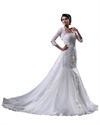 Show details for Ivory Mermaid Strapless Vintage Formal Wedding Dresses With Jacket