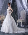 Show details for Ivory Embroidered Wedding Dress Strapless With Gold Leaf Embroidery