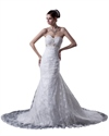 Show details for Ivory Lace Empire Sweetheart Mermaid Wedding Dress With Beaded Belt