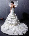 Show details for Ivory Strapless Beaded Lace Applique Wedding Dresses With Pick Ups
