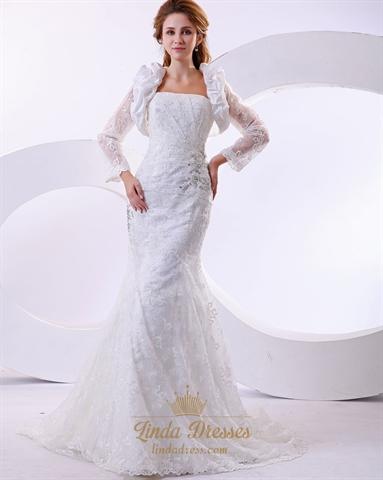 Mermaid Dropped Waist Wedding Dress