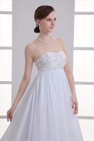 Elegant White Cap Sleeve A Line Wedding Dress With Lace Embellished