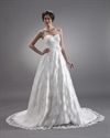 Show details for Ivory Lace Sweetheart Strapless Wedding Dresses With Flower Detail