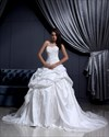 Show details for Ivory Sweetheart  Pick-Up Wedding Dress With Floral Appliques