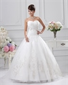 Show details for Ivory Wedding Dresses Sweetheart Neckline Princess With Gold Embroidery