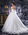 Show details for Ivory Sweetheart Ball Gown Wedding Dress With Beaded Floral Applique