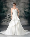 Show details for Ivory Sweetheart Strapless A Line Wedding Dresses With Flower Detail