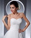 Show details for Simple Elegant Ivory Organza Sweetheart Chapel Train Wedding Dress
