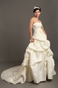 Show details for Ivory Strapless Pick Up Skirt Lace Wedding Dresses With 3d Floral Detail