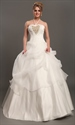 Show details for Ivory Halter Neck Organza Wedding Dresses With Floral Embellishments