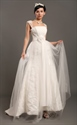 Show details for Elegant Ivory Lace Straps A Line Wedding Dresses With Tulle Overlay