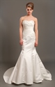 Show details for Elegant Ivory One Shoulder Open Back Chiffon Wedding Dress With Flowers