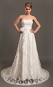 Show details for Ivory Lace Strapless Sweetheart Wedding Dresses Vintage With Flowers
