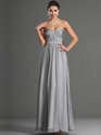 Show details for Grey Sweetheart Chiffon Bridesmaid Dresses With Beaded Waistline