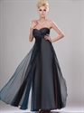 Show details for Navy Blue Ombre Sweetheart Strapless Empire Waist Chiffon Prom Dresses