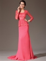 Show details for Watermelon Two Tone Mother Of The Bride Dresses With Long Sleeves
