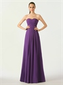 Show details for Purple Sweetheart Chiffon A-Line Bridesmaid Dresses With Lace Up Back