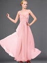 Show details for Pink Sweetheart Strapless Chiffon Bridesmaid Dress With Twist Front
