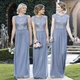 Light Blue Bridesmaid Dresses With Straps And Lace Cap Sleeves Overlay Top