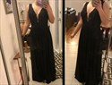 Show details for Black V-Neck A-Line Sleeveless Lace Bodice Chiffon Skirt Evening Dress
