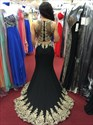 Show details for Vintage Sleeveless Floor Length Two Piece Mermaid Prom Dress With Lace