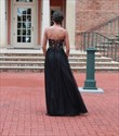 Show details for Black Strapless Sweetheart Beaded Embellished A-Line Tulle Prom Dress