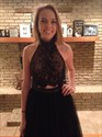 Show details for Sleeveless Two Piece Black Lace Top Tulle Prom Dress With Open Back