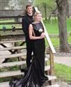 Show details for Backless Sleeveless Black Elegant Floor Length Sequin Evening Dress