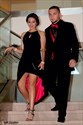 Show details for Beaded Top Sleeveless Black Split Long Prom Dress With Front Keyhole