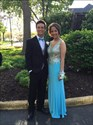 Show details for Floor Length Sleeveless V-Neck Chiffon Prom Dress With Beaded Bodice