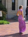 Show details for Purple Cap Sleeve Mermaid Lace Long Prom Dress With Keyhole Open Back