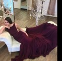 Show details for Elegant Grape Sleeveless Open Back Mermaid Evening Dress With Train