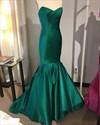 Elegant Emerald Green Mermaid Strapless Floor-Length Evening Dress