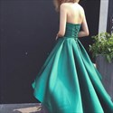 Show details for Emerald Green Strapless Sweetheart High Low A-Line Long Prom Dress