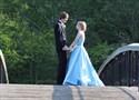 Show details for Aqua Blue Elegant Sleeveless A-Line Halter Floor-Length Prom Dress