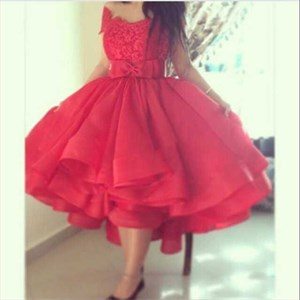 Off-The-Shoulder Lace Top Tea Length A-Line Ball Gown Homecoming Dress