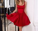 Show details for Cute Red Scoop Neck Sleeveless A-Line Homecoming Dress With Bowknot