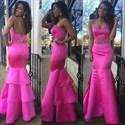 Show details for Elegant Strapless Sweetheart Beaded Waist Ruffled Mermaid Prom Dress
