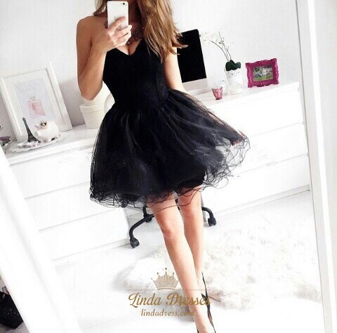 Little Black Dress with Tulle