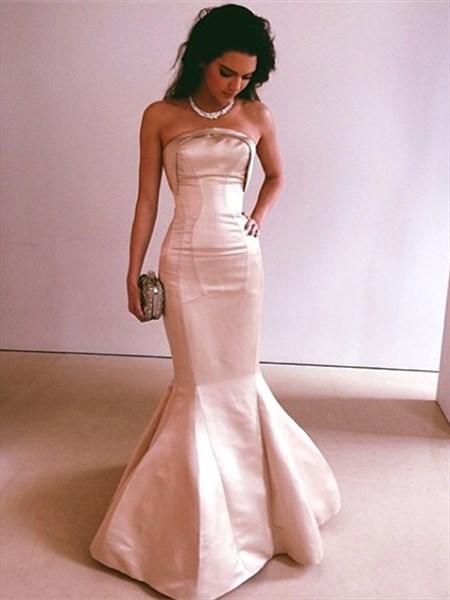 Trumpet/Mermaid Simple Elegant Strapless Floor Length Evening Dress