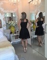 Show details for Simple Elegant Sleeveless Lace Little Black Dress/Homecoming Dress