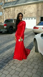 Elegant Red Long Sleeve Sequin Backless Mermaid Prom Dress With Train