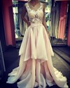 Sleeveless Scoop Neck Illusion Lace Bodice A-Line Chiffon Prom Gown