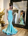 Show details for Trumpet/Mermaid Simple Elegant Strapless Floor-Length Evening Dress