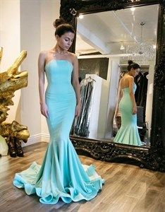 Trumpet/Mermaid Simple Elegant Strapless Floor-Length Evening Dress