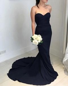 Trumpet/Mermaid Black Strapless Sweetheart Floor-Length Evening Dress