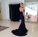 Show details for Trumpet/Mermaid Black Strapless Sweetheart Floor-Length Evening Dress