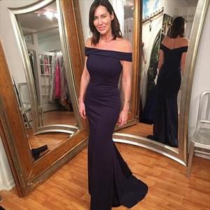 Trumpet/Mermaid Simple Elegant Off-The-Shoulder Floor Length Prom Gown